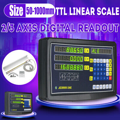 2/3 Axis Digital Readout Linear Scale DRO Display CNC Milling Lathe Encoder