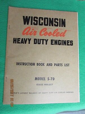 Wisconsin Air cooled Engine Manual     Model S-7D