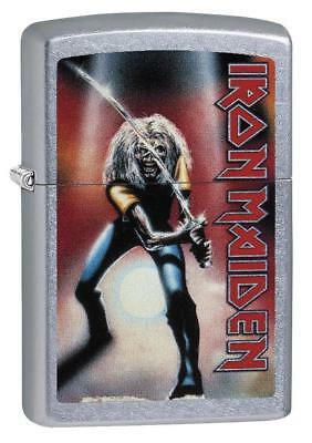 Zippo 29575, Iron Maiden-Maiden Japan, Street Chrome Finish Lighter, Full Size