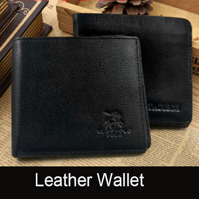 Genuine Leather Mens Purse Bifold Credit Card Wallet RFID Blocking Anti Scan OZ