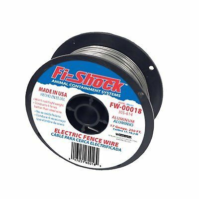 Fi-Shock FW-00018D Electric Fence Wiring with Aluminum Wire, 17 Gauge, 250'