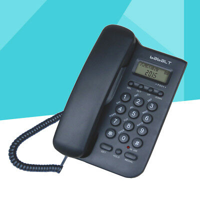Caller Display Corded Wall Mounted Phone Durable Simple Telephones for Home