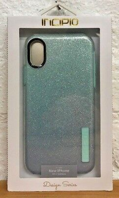 cheap for discount 66262 54714 INCIPIO DUALPRO GLITTER Case Design Series For iPhone XS and X Mint ...