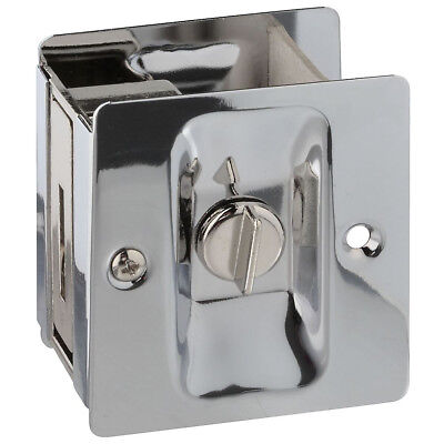 National Hardware N326-298 Pocket Door Latch, Solid Brass, Chrome Plated