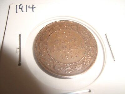 Canada 1914 Large One Cent  George V Penny