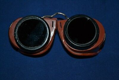 Vintage welding Goggles Mine Safety Appliances Co RARE Steampunk Motorcycle