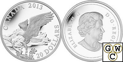 2013Returning from the Hunt-The Bald Eagle Prf $20 Silver Coin 1oz.(13282)(OOAK)