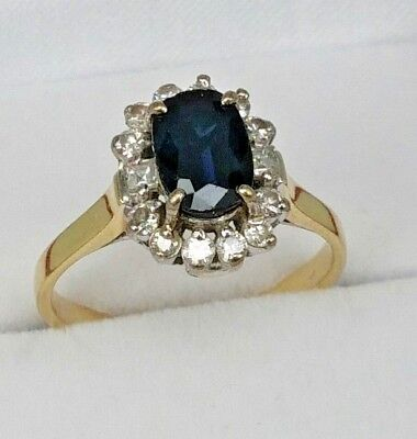 cushion carat ring vivid gemstone unique trap blue rings stone one sapphire