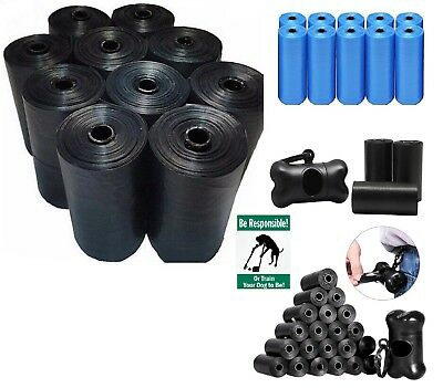 Dog Poo Bags On A Roll Pet Waste Refill Poo Bags Kit Refills Black, Blue