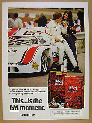 1972 Porsche 917 917/10 race car photo L&M Cigarettes vintage print Ad