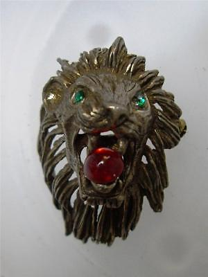 Vintage ROARING LION Pin BROOCH ~In the style of Joseff of Hollywood Carnegie