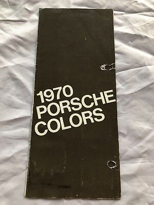 1970 Porsche 911 914-6 914 COLOR CHART Brochure - Original