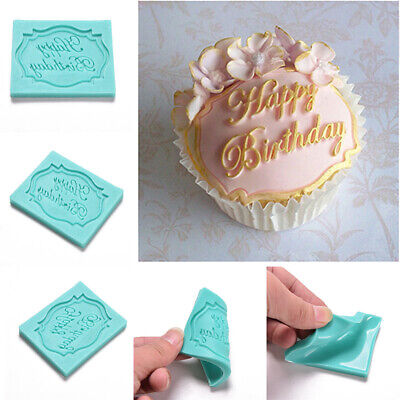 Happy Birthday Silicone Cake Fondant Mould Decorating Chocolate Baking Mold New