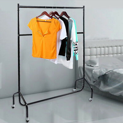 Heavy Duty Garment Rail with Double Bar 2Tier Clothes Hanging Display Rack Stand