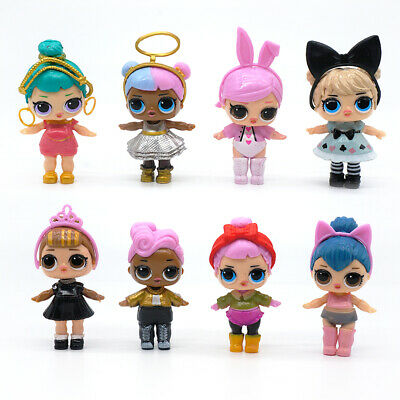 8 Pcs Cartoon LOL Surprise Doll Blind Mystery Play Toy Action Figure Cake Topper