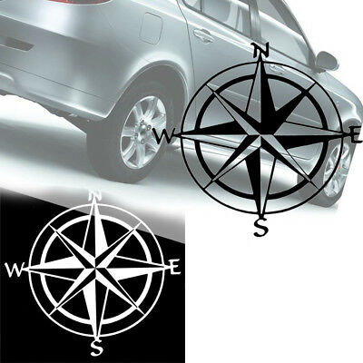 Compass PET Decal Sticker SUV Car Boat Window Wall Nautical Sailing Anchor Ship