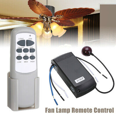 Universal Ceiling Fan Light Lamp Timing Wireless Remote Controller Control Kit