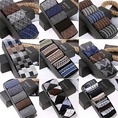 1 5 10 Pairs Men Warm Winter Autumn Thick Wool ANGORA Cashmere Dress Socks Lot