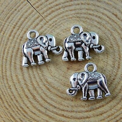 14pcs Vintage Silver Alloy Tiny Scooter Charms Pendants Findings Crafts 50894
