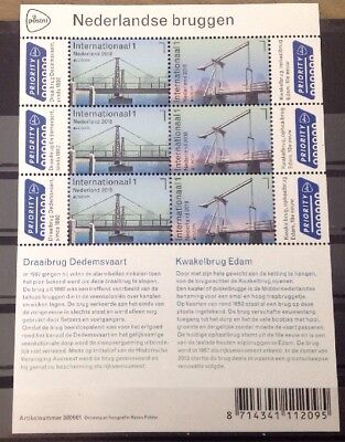 Nederland / The Netherlands - Postfris/MNH - Sheet Europe, Bridges 2018
