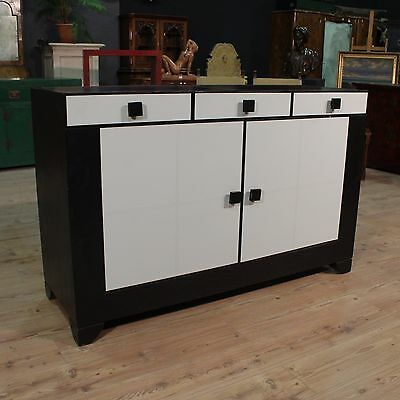 Cupboard wood white black design furniture fake eco leather modern antique 900