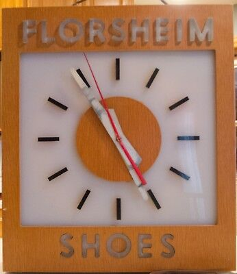 Vintage Collectable 1950's Florsheim Shoes  Advertising Clock.