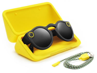 Snap Spectacles - Smart Phone Camera Glasses for Snapchat (Black)