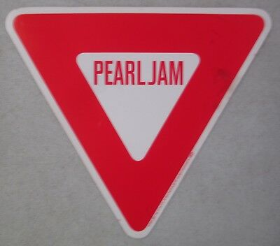 "Unused 1998 Pearl Jam - Yield Album Promo Sticker Yield Sign 7"" Sony Music"
