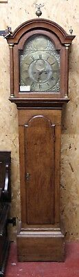 1750 Brass Face Grandfather Clock - 8 x day by John  Sturtutge from Lymington