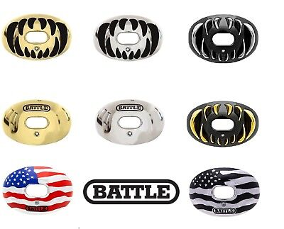 Battle Oxygen Convertible Chrome Football Mouthguard Mouthpiece Fits Youth/Adult