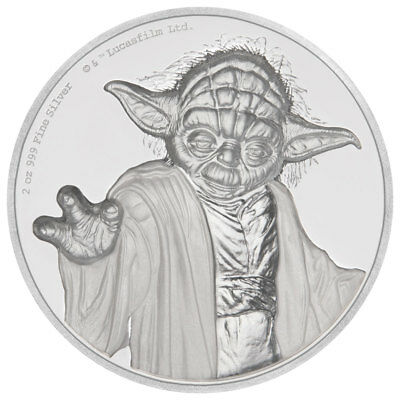2018 Niue Star Wars - Yoda UHR 2 oz. Silver Colorized Proof $5 Coin OGP SKU52677