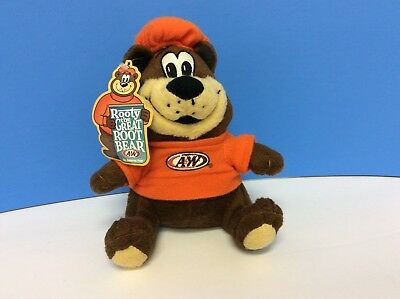 """2012 A&W Root Beer Rooty the Great Root Bear w/Tags Plush 6"""""""