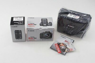 BRAND NEW Canon EOS Rebel T6 2 Zoom Lens Kit EF-S 18-55mm IS & EF 75-300mm III