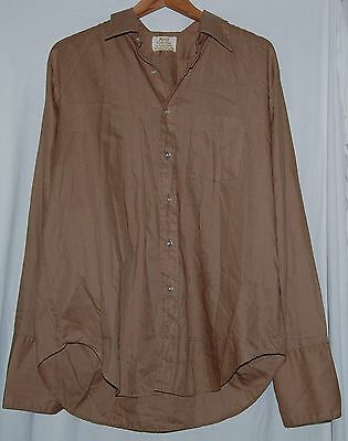 Vintage Kent Collection Arrow Mens Shirt 50s Brown Blue Stripe XL LS Button