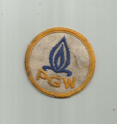 1950's PGW  PHILADELPHIA GAS WORKS UTILITY COMPANY WORKERS PATCH PA OLD TWILL