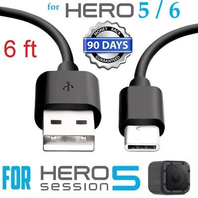 6ft For GoPro Hero Black 5 6 Session Camera USB Data Sync Power Charger Cable