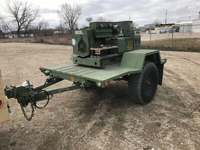 MILITARY SURPLUS GENERATOR MEP-003A , 10KW, Low Hrs w/ Hummvee TRLR No  Reserve