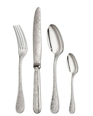 Jardin D'Eden by Christofle 24-Piece Silver Plated Flatware Set 6 w/chest New