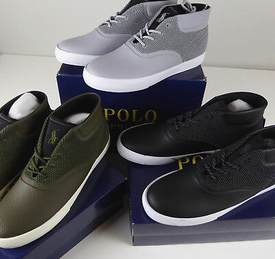 Polo Ralph Lauren Vadik Mesh Sneaker Chukka Shoes NIB New Vulcanized w Pony Logo