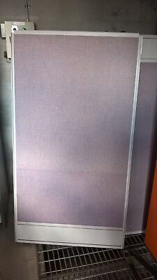Office Partitions - Lavender Fabric With Grey Aluminium Trunking  - 23 available