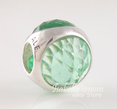 RADIANT DROPLET Authentic PANDORA Icy Green Crystals Charm 792095NIC NEW w BOX