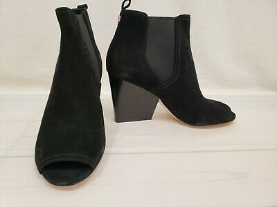 69a168e7dac NWD Tory Burch Gemma 65mm Open Toe Suede Bootie Black Size 7M Retail  398