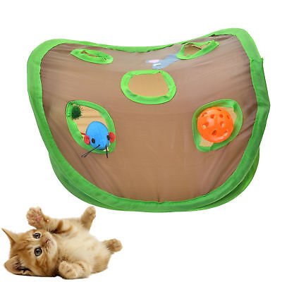 Cat Dog Pet Play TENT Tunnel Playground Toys Mouse Hole Bell Catch House