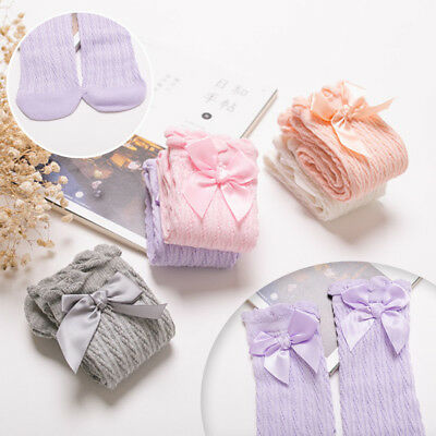 Lovely Kids Baby Girls Comfortable Tights Socks Stockings Pantyhose WithBowknot