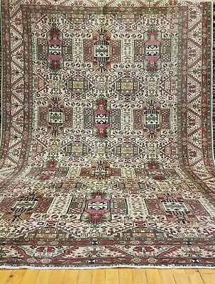 Natural Dyes Antique 1930-1940s Wool Pile,7x10ft Primitive Armenian  Rug