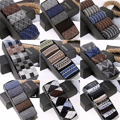 5 Pairs Men's Brand Socks Wool Cashmere & Warm Winter Thick High Quality sz 7-11