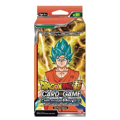 Dragon Ball Super Card Game  : Pack Spécial Galactic Battle VF - Neuf