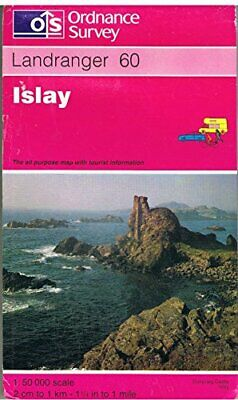 Landranger Map 60 Islay by Ordnance Survey Sheet map, folded Book The Cheap Fast