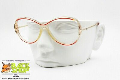1ceb4e38d59756 Persol Ratti 960 oval acetate frame with red eyebrows, made in Italy, NOS