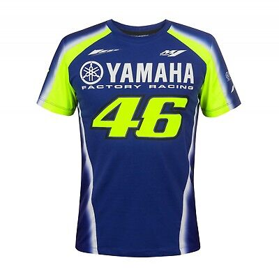 Official 2018 Valentino Rossi VR46 Yamaha Racing Blue MotoGP Men's T-Shirt